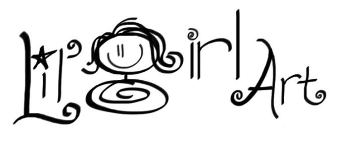 Lil girl art logo