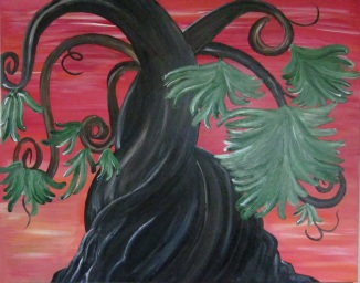 Twisted Tree Painting