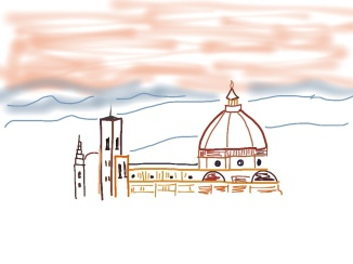 Digital Drawing: Florence Italy