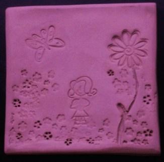 Lil Love Girl Pink Trivet