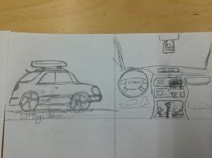 Inside the Subaru