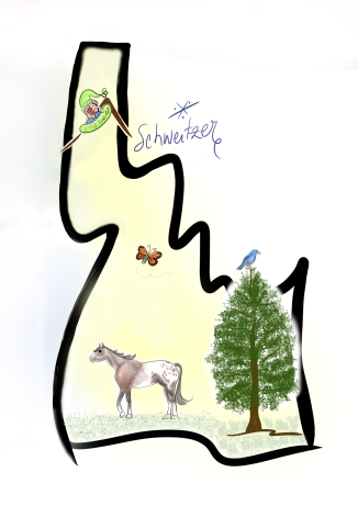 idaho cartoon