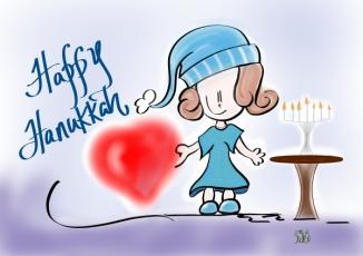 lil hanukkah girl