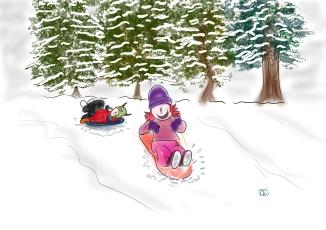 lil friends sledding in spokane