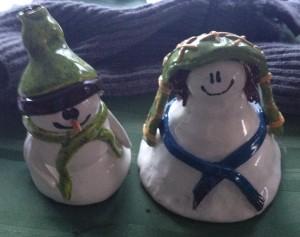 Snowman and snowwoman