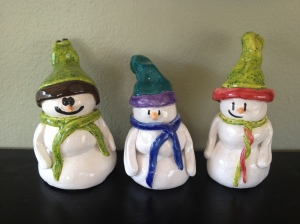 Snowmen dudes hanging out